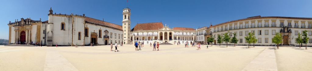 Il cortile dell'Università di Coimbra che avevo sognato in tanti libri