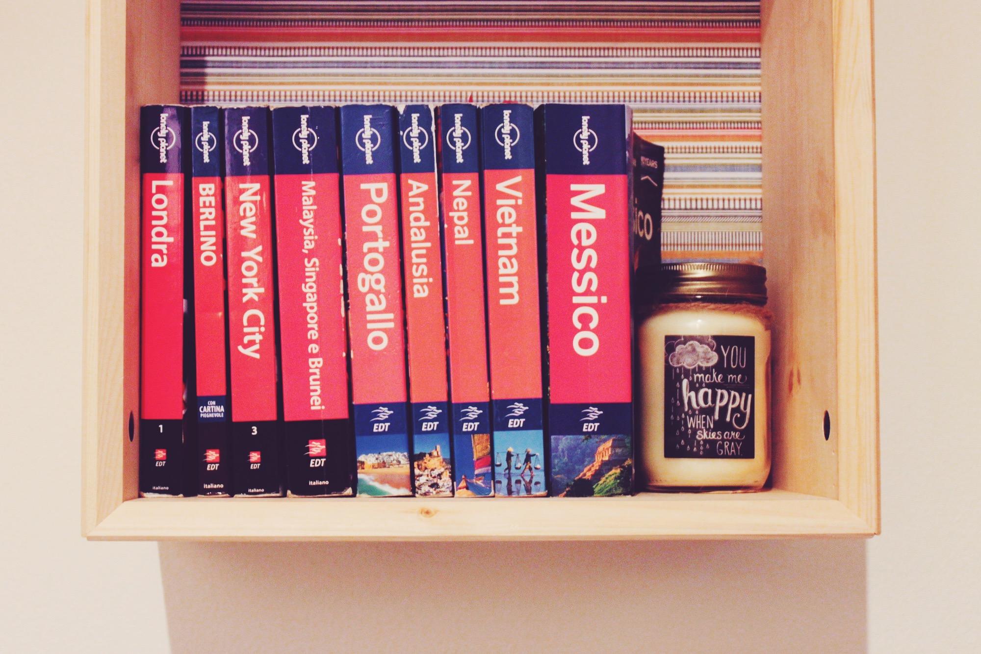 Libreria per le guide di viaggio