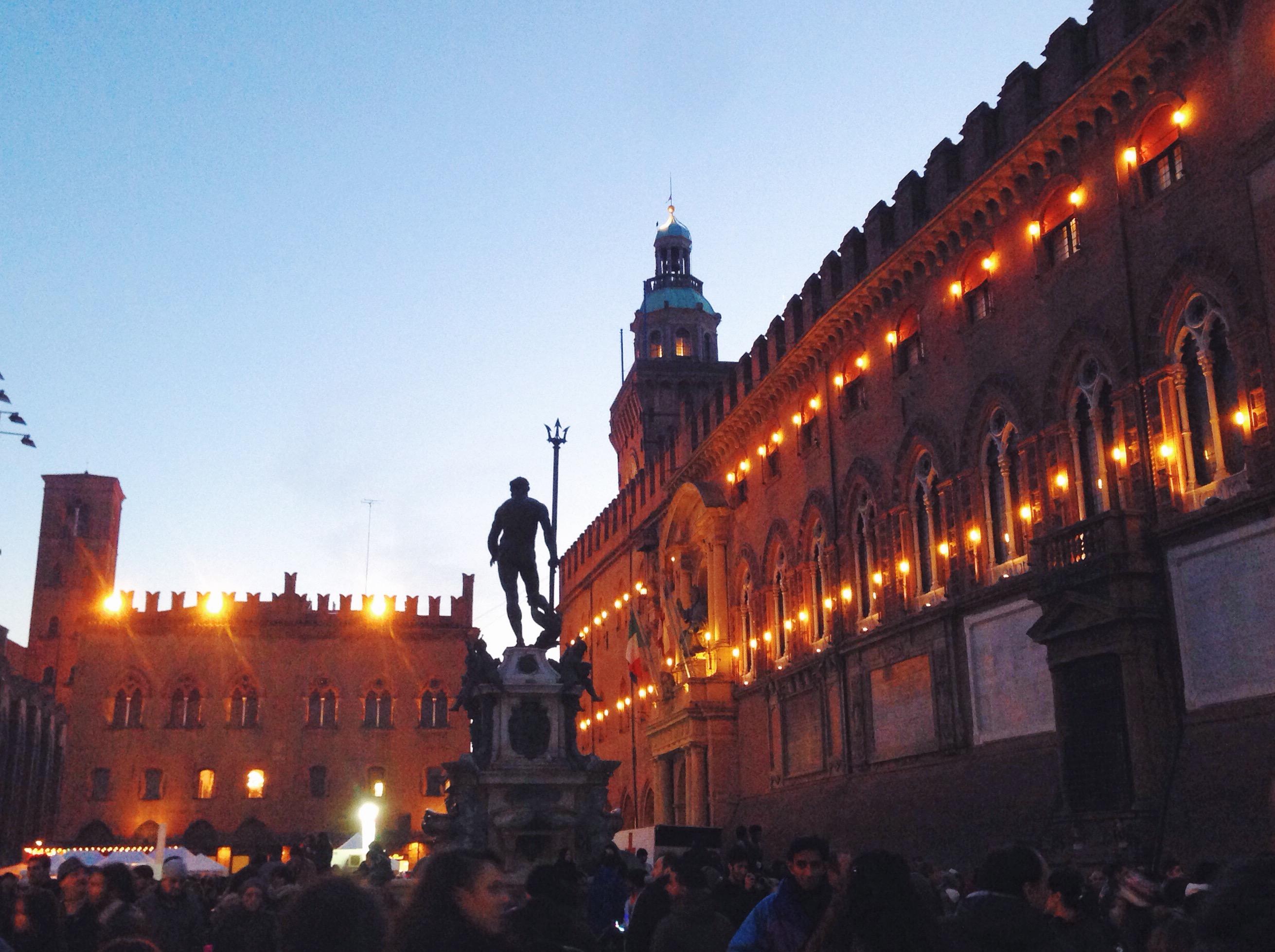 Il mio posto preferito di Bologna, che con questa luce diventa magico
