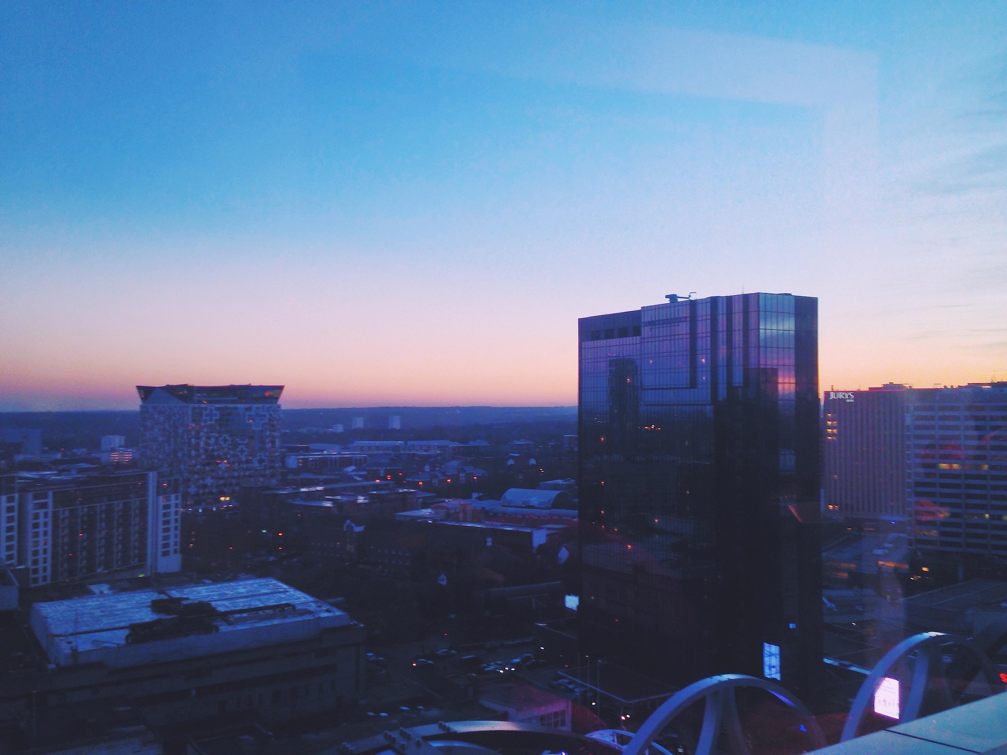 Il tramonto su Birmingham (che in questa stagione coincide con l'ora del tè)