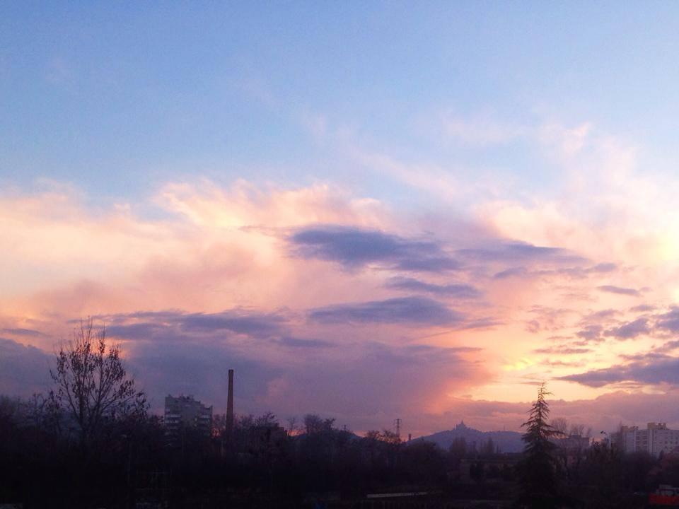 San Luca al tramonto