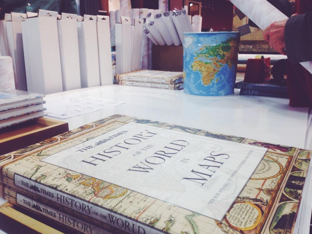 negozio di mappe Londra