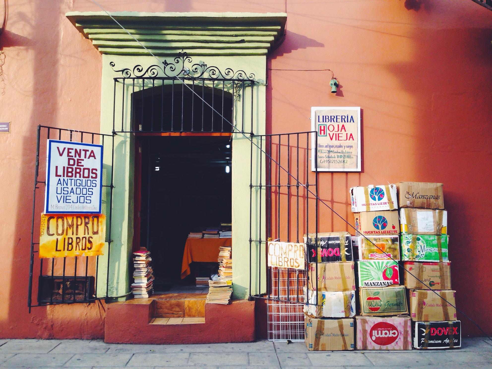 Itinerario di due settimane in Messico - Oaxaca - Libreria
