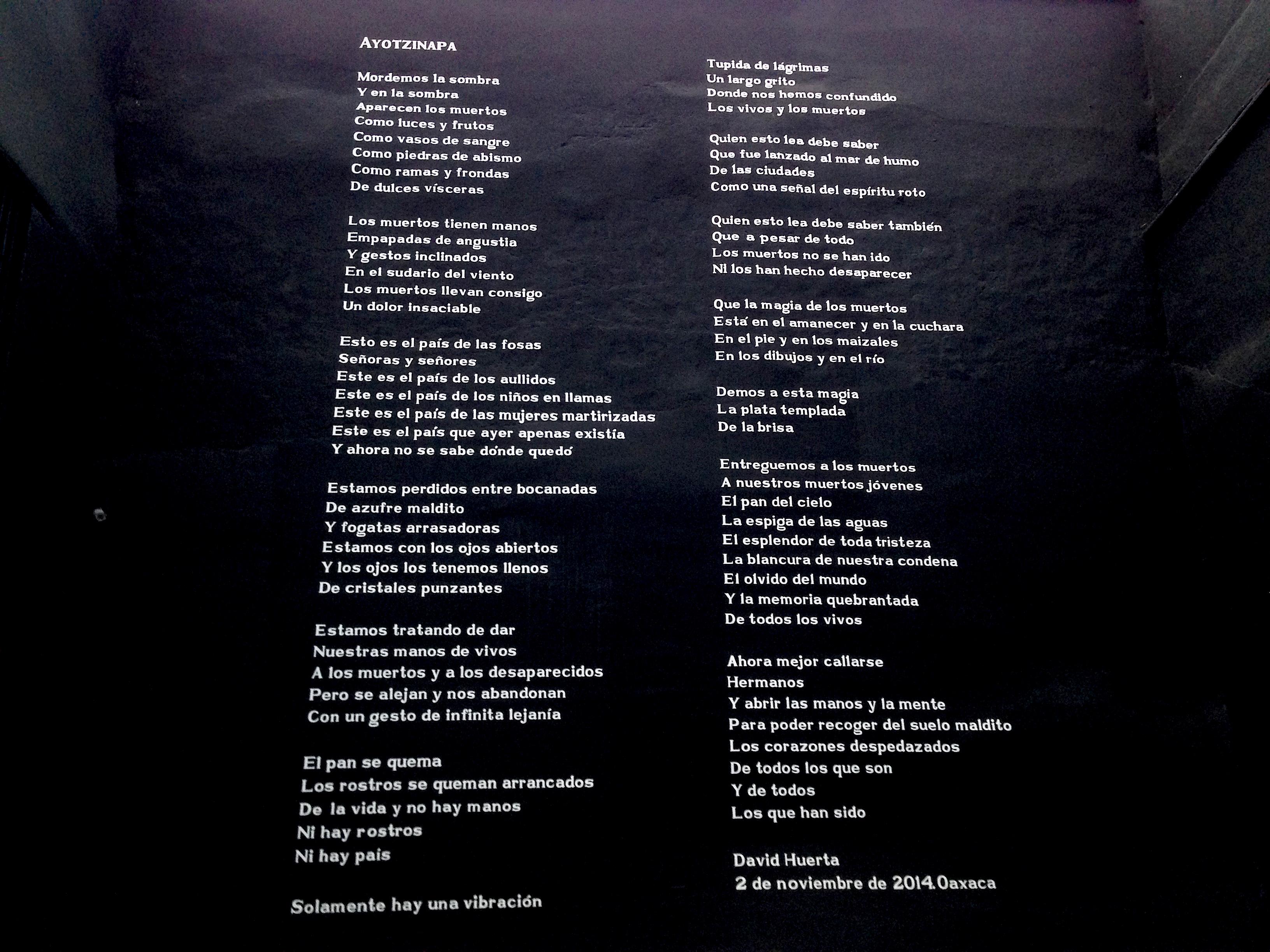 poesia ayotzinapa