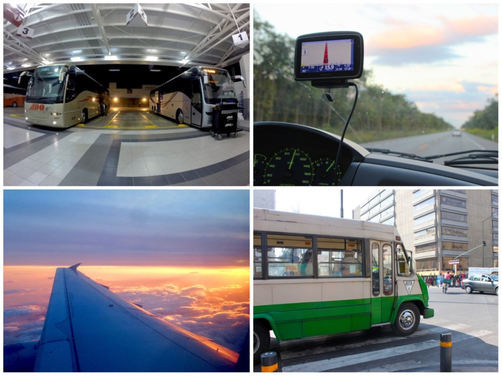 Autobus, automobile, aereo, colectivo