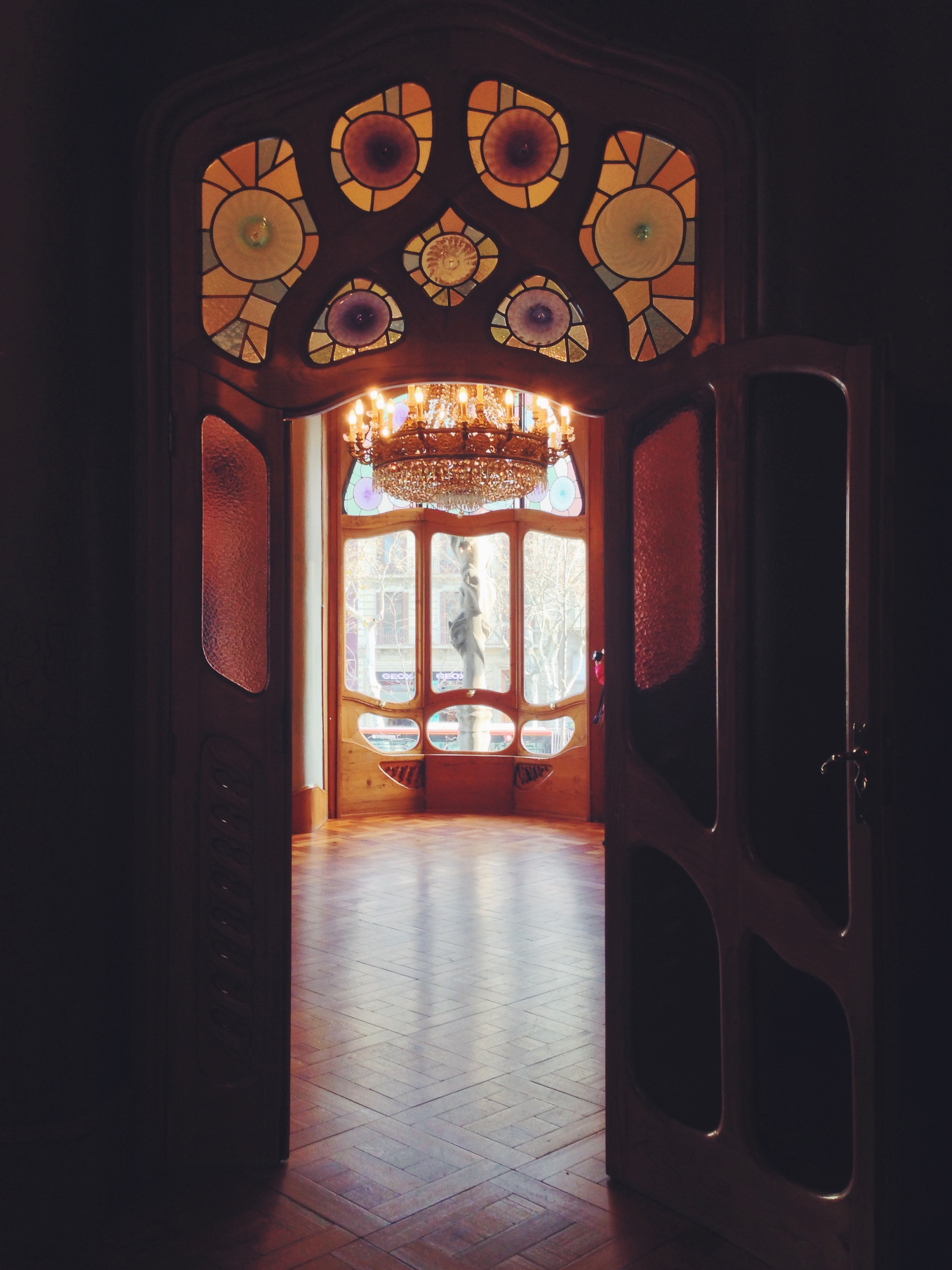 Interno di Casa Battlò - un weekend a Barcellona