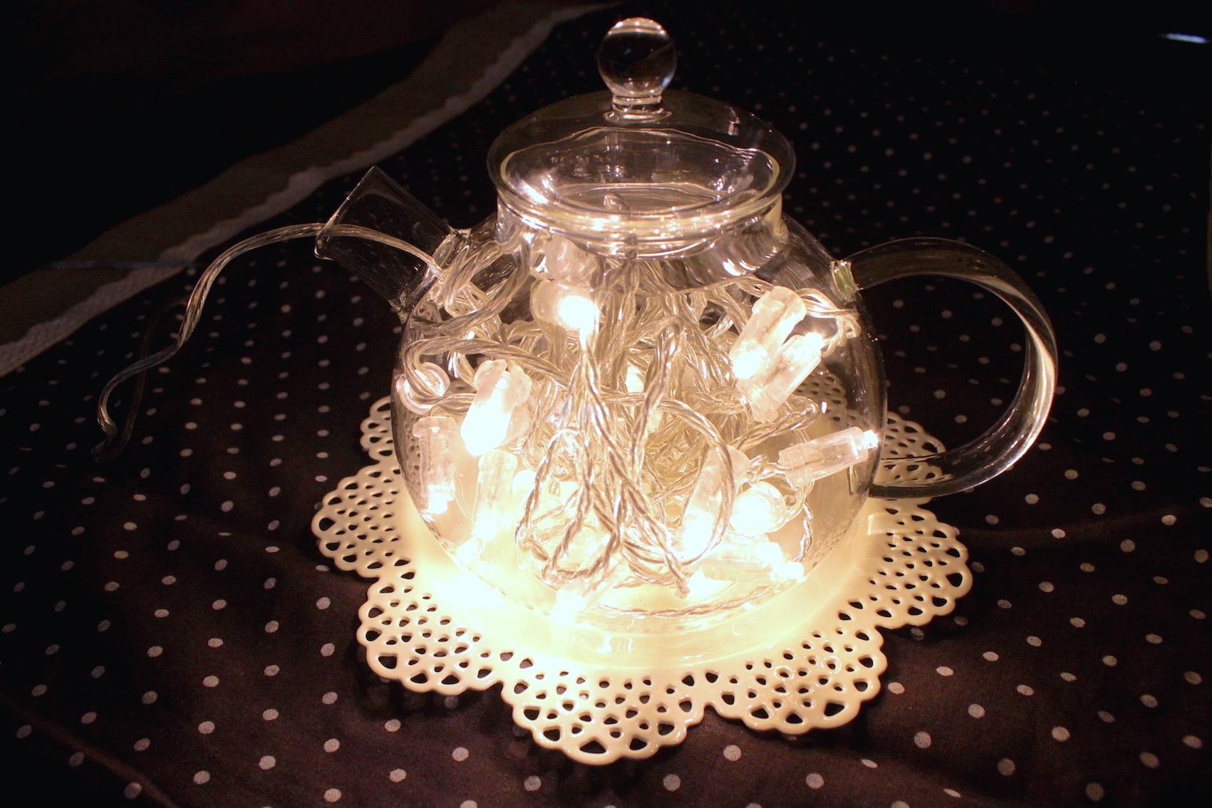 Lampade con le lucine nel barattolo di vetro  Via che si va