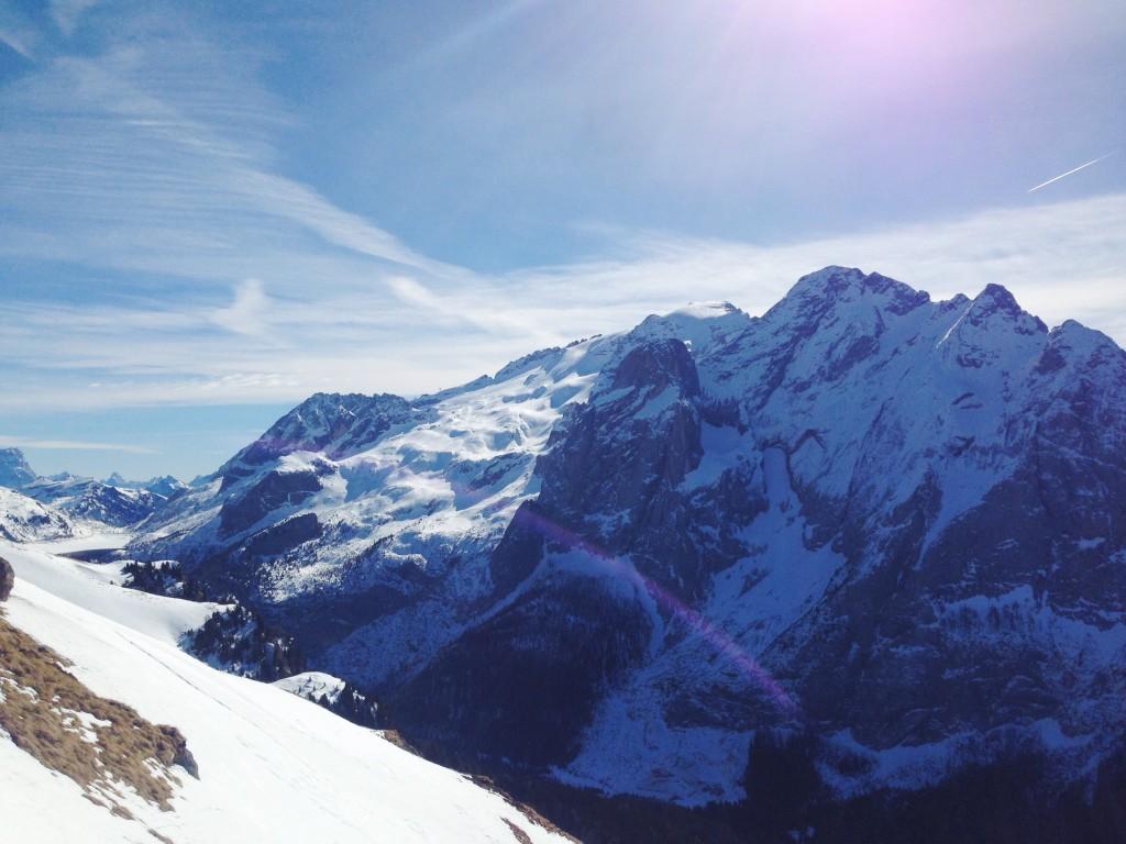 Il panorama della Val di Fassa