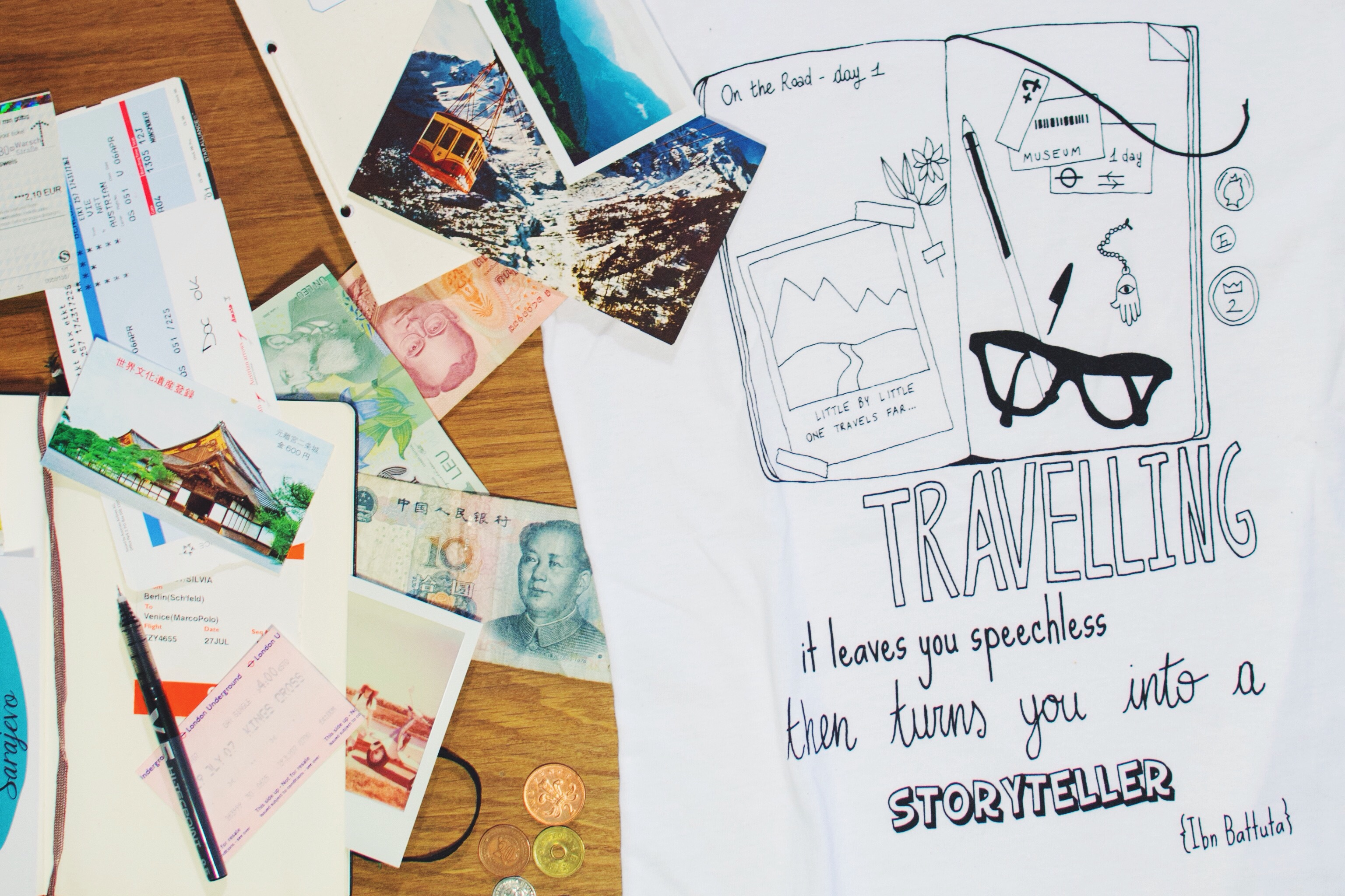 In - Ink Your Travel - T-shirts for travellers - Scrapbook