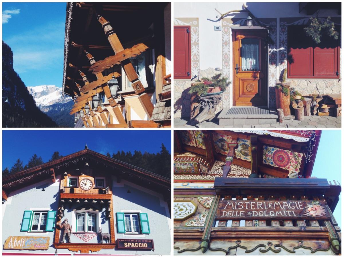 Val di Fassa - I dettagli delle case a Canazei