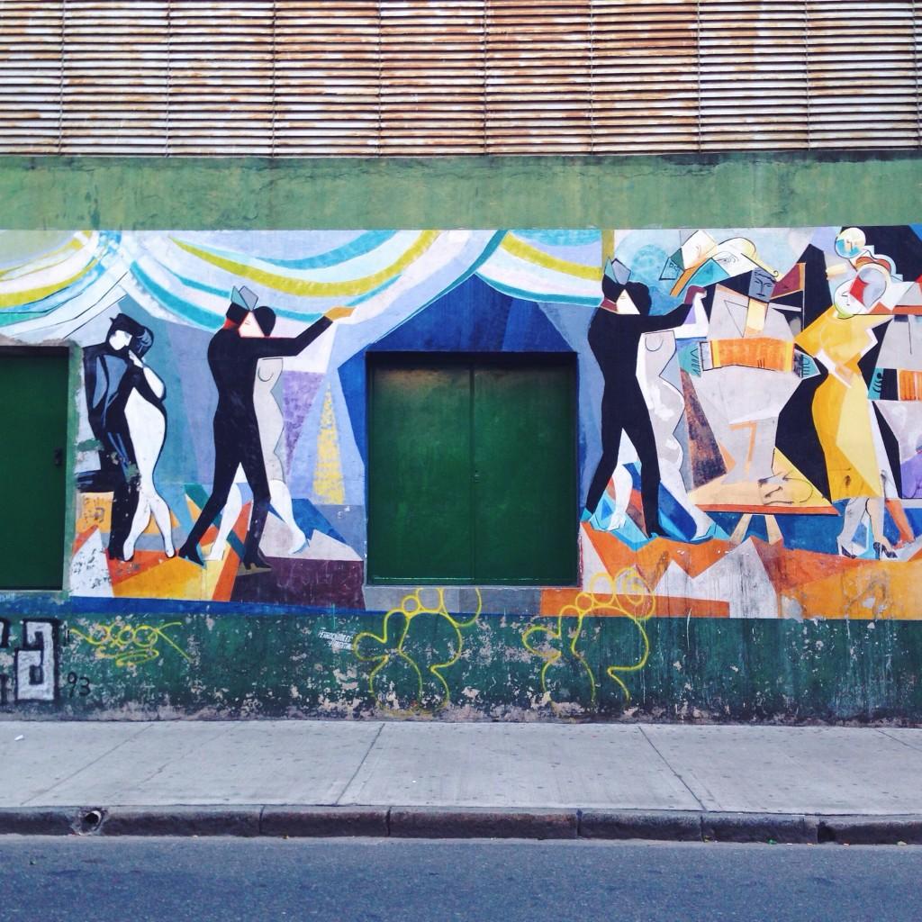 Murales argentini vicino a casa di mia sorella