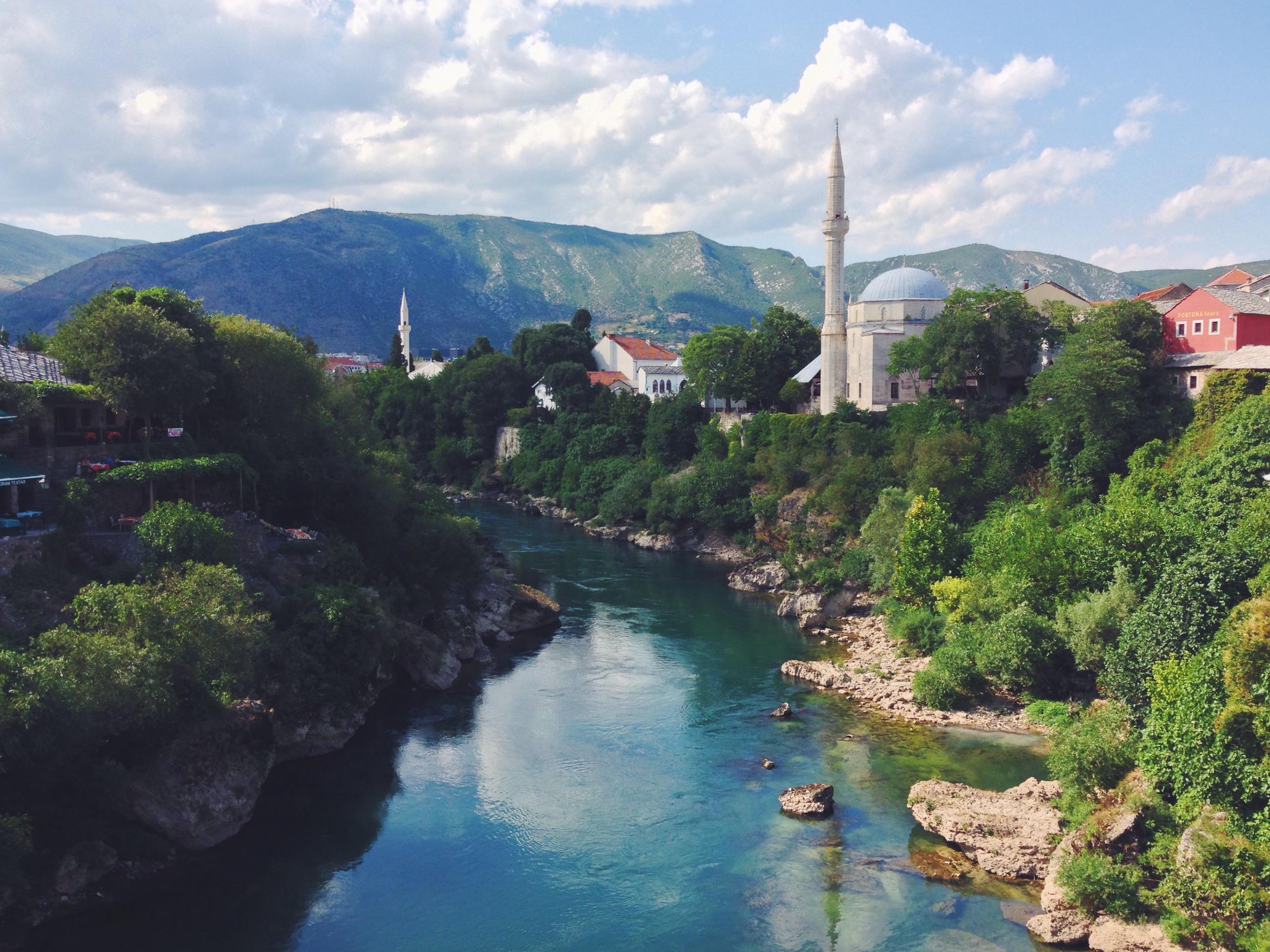 Ponte e fiume di Mostar