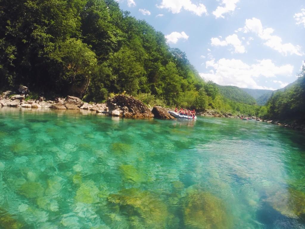 Rafting sul fiume Drina e Tara