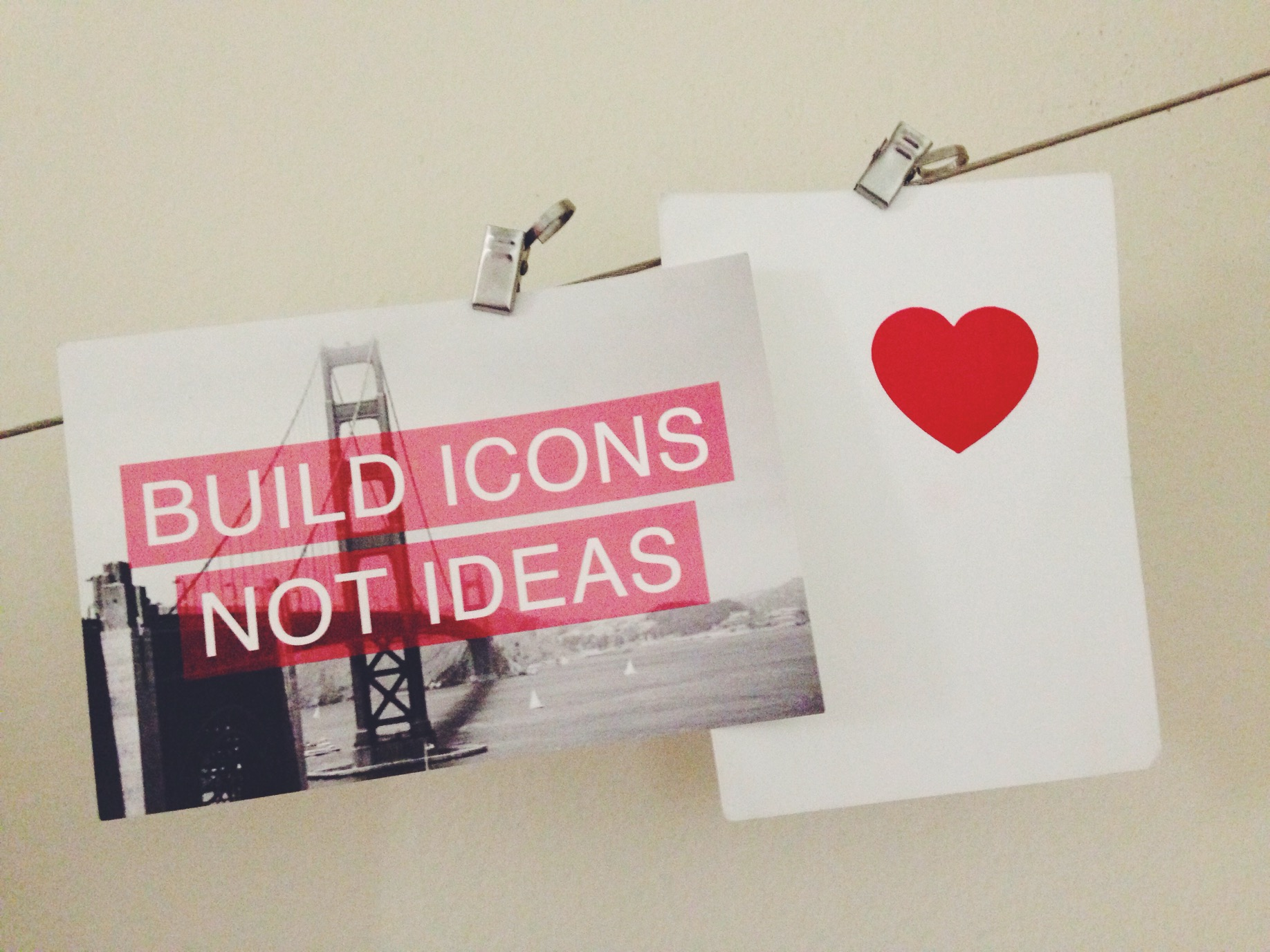 Build icons not ideas