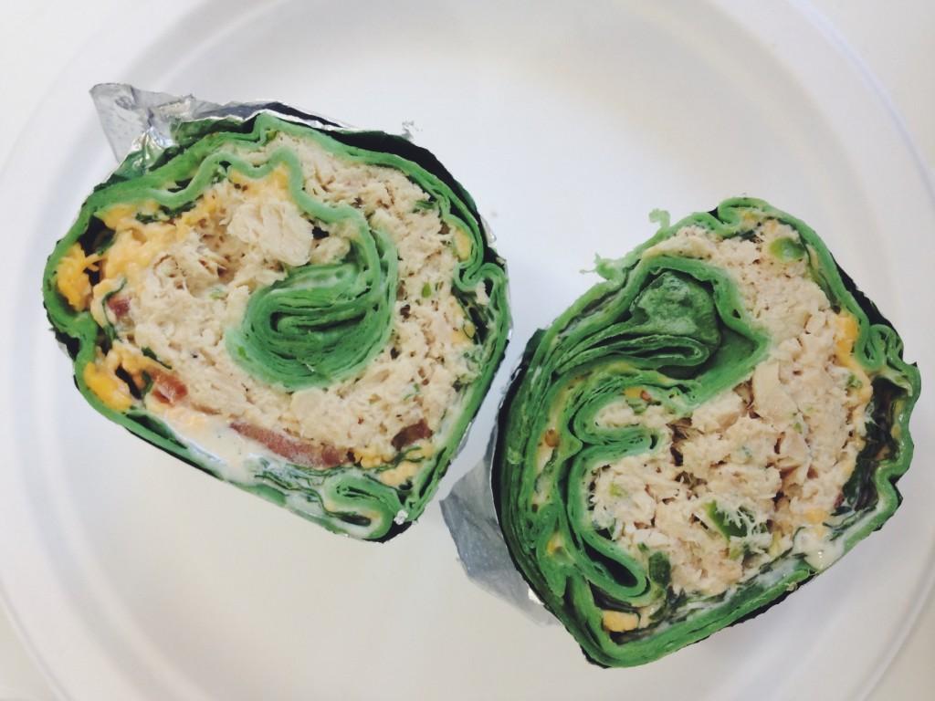 Burrito di spinaci al tonno