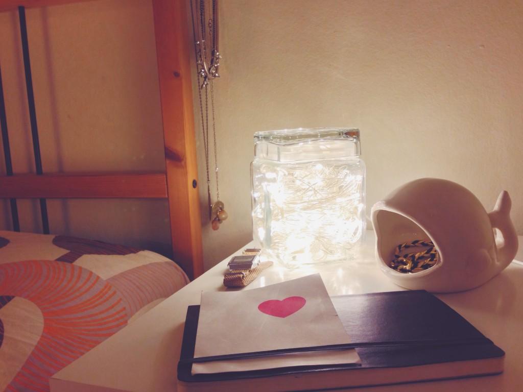 La mia lampada ovunque - un barattolo con le lucine