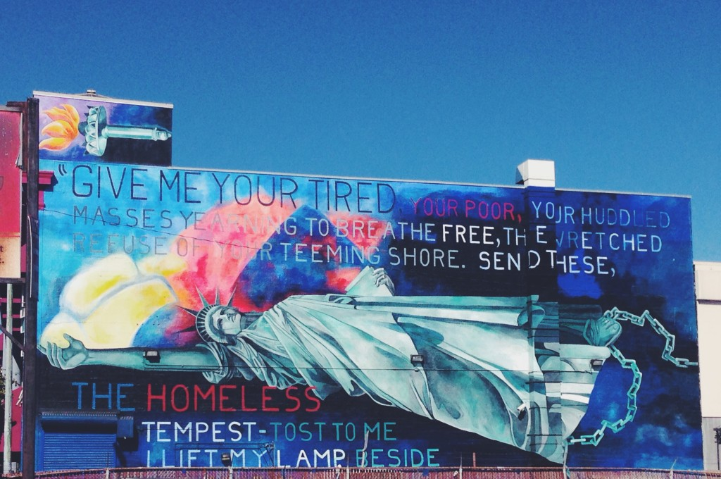 Give me your tired your poor Your huddled masses yearning to breathe free The wretched refuse of your teeming shore