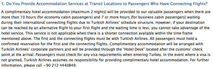 Hotel compreso in volo Turkish con scalo oltre le 10 ore