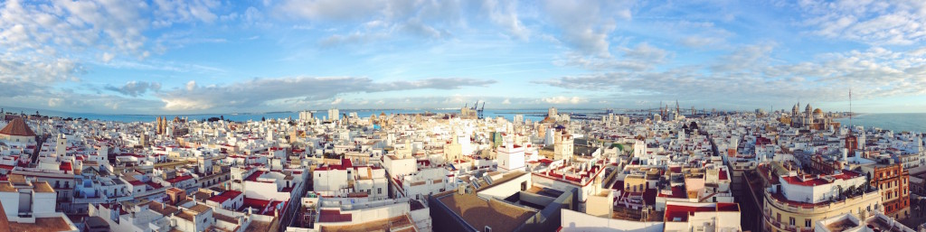 Vista panoraminca di Cadiz dalla torre Tavira