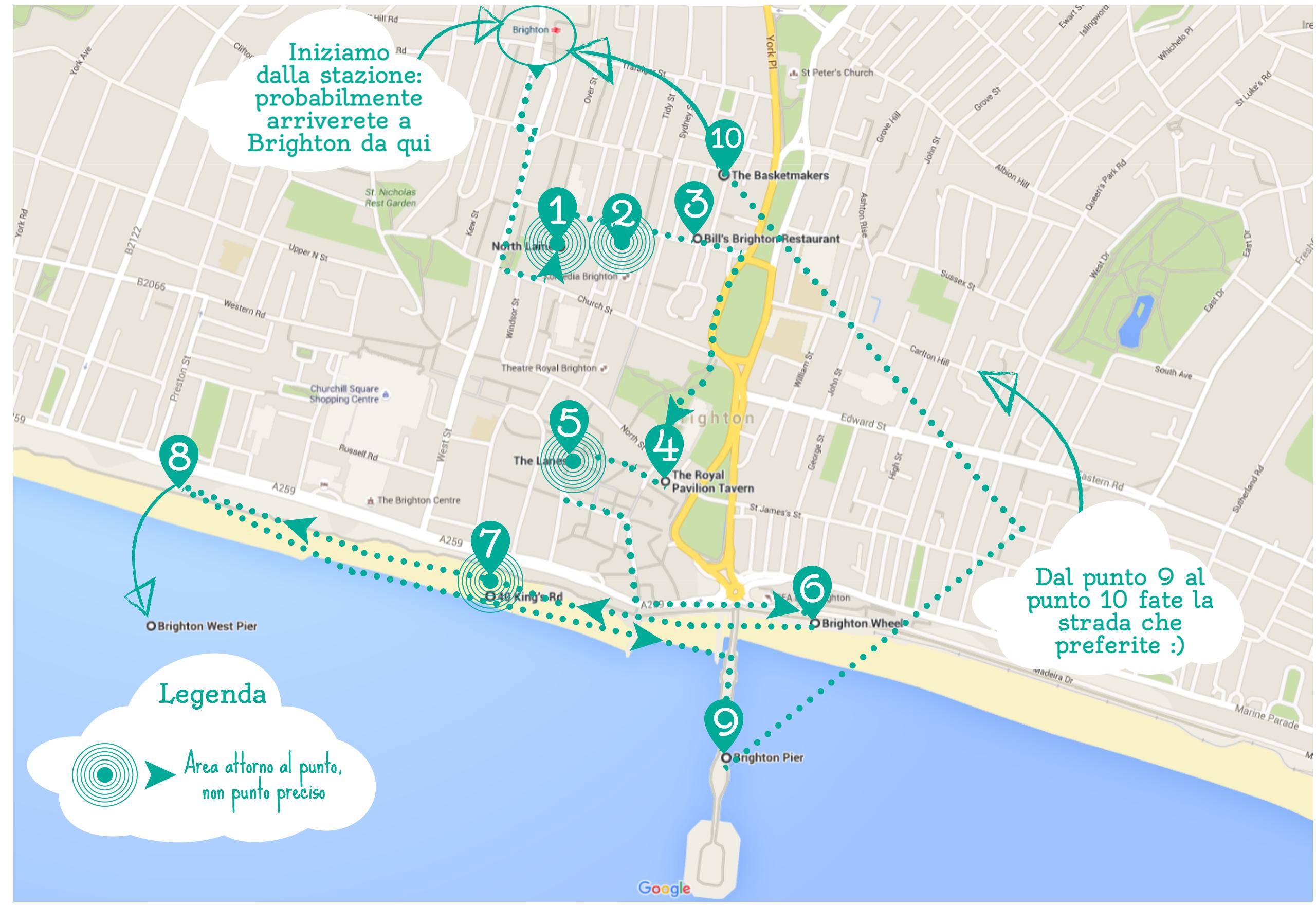 10 cose da vedere e fare a Brighton in una giornata - itinerario a piedi di Brighton