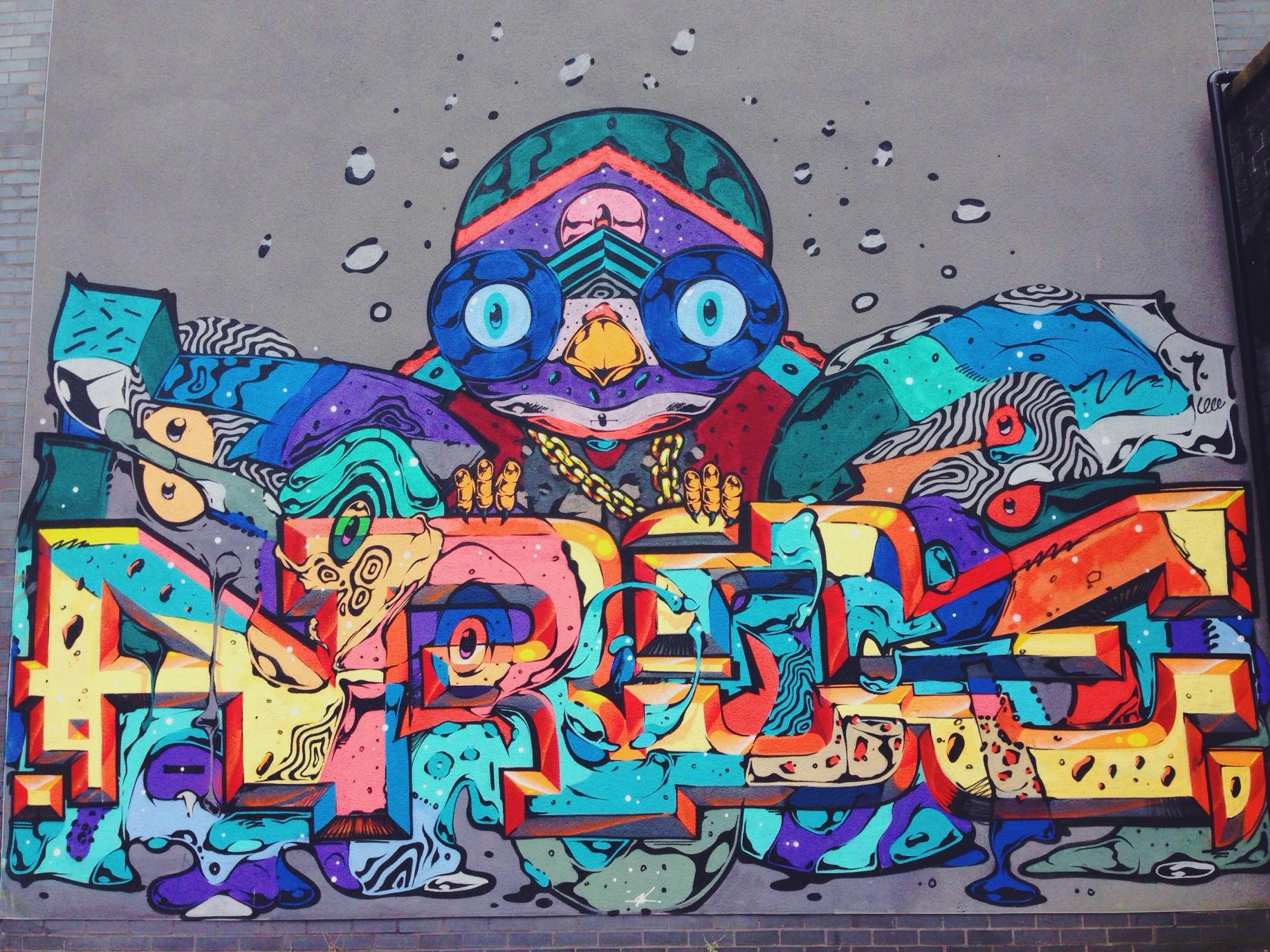 I graffiti di Brighton a North Laine