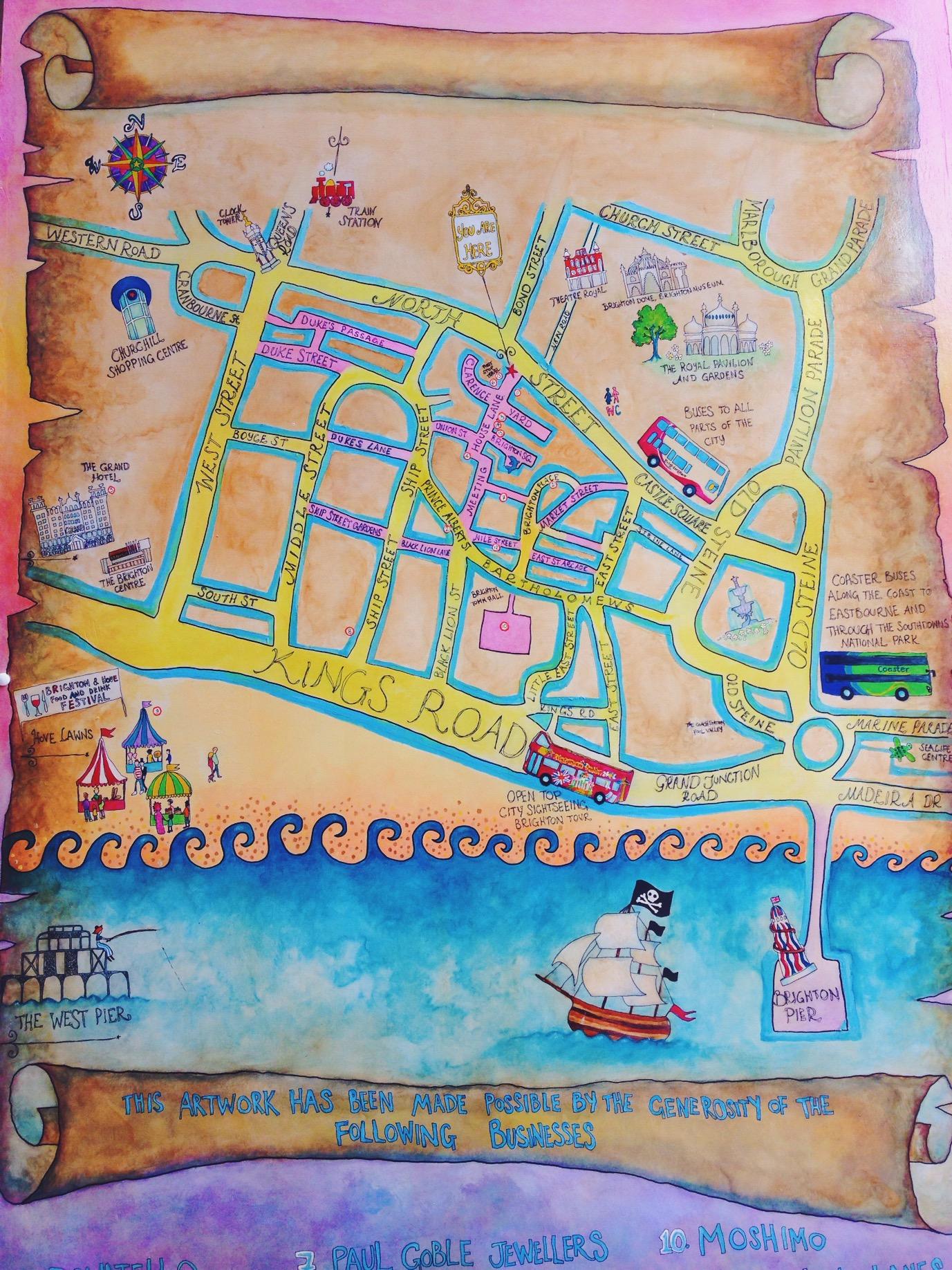 Il quartiere The Lanes di Brighton