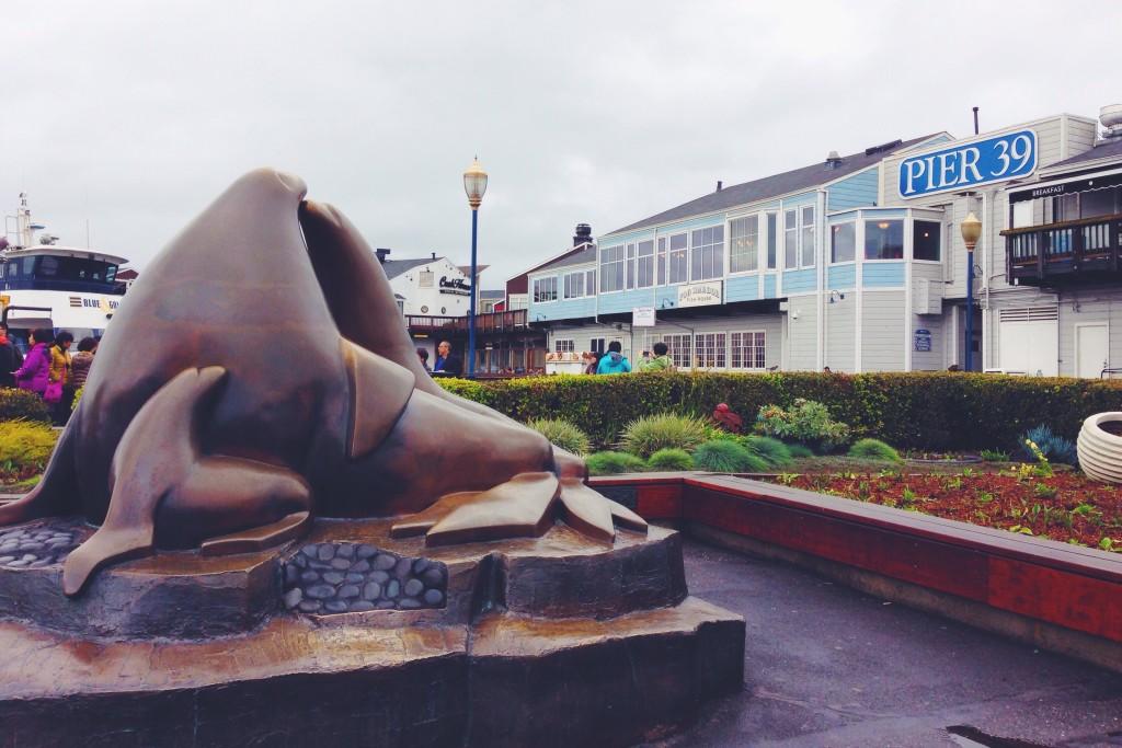 La statua leoni marini di San Francisco al Pier 39