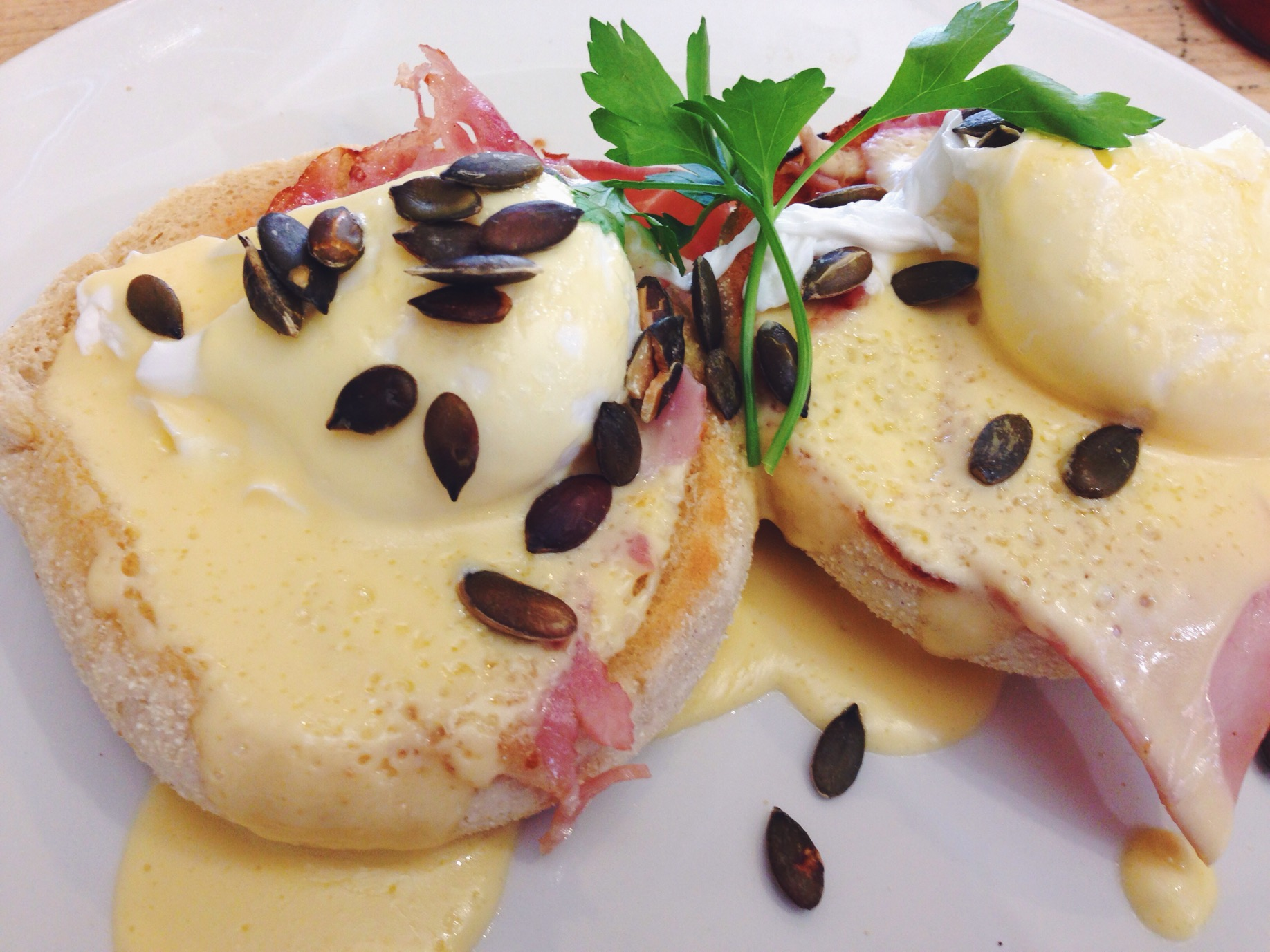 Le Eggs Benedict da Bill's a Brighton