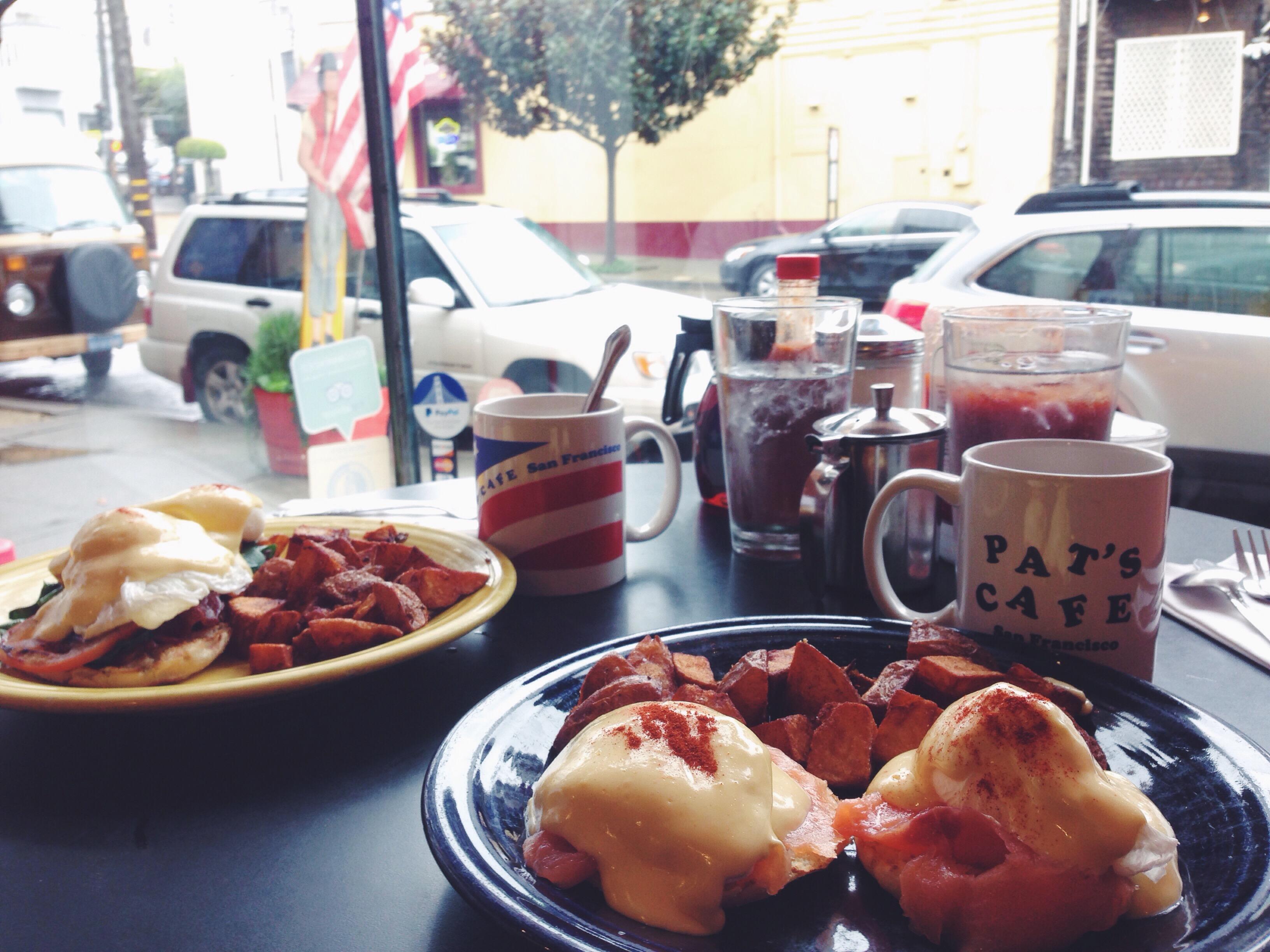 Le migliori Eggs Benedict di San Francisco al Pat's Cafè