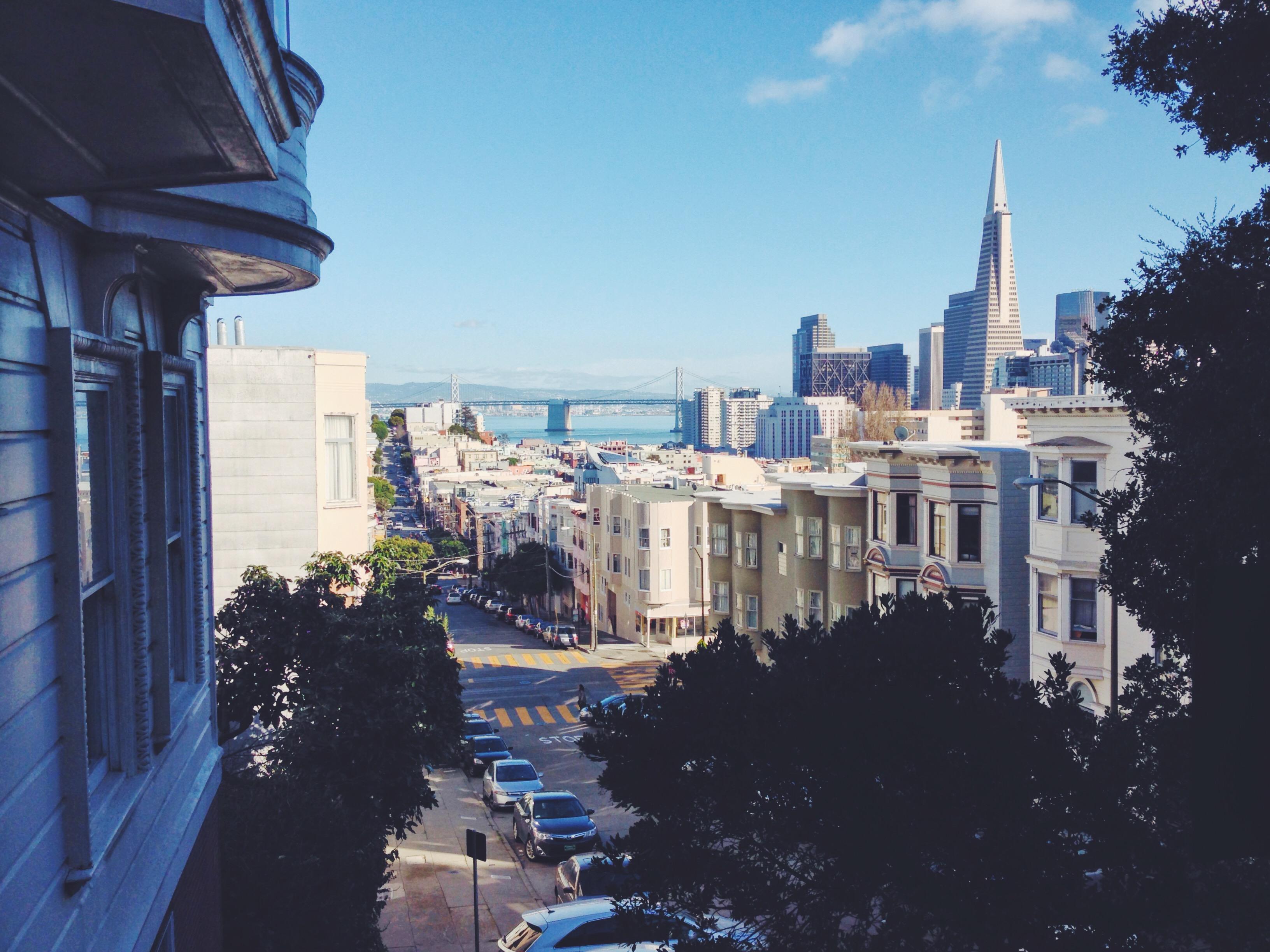 Le strade in discesa di San Francisco
