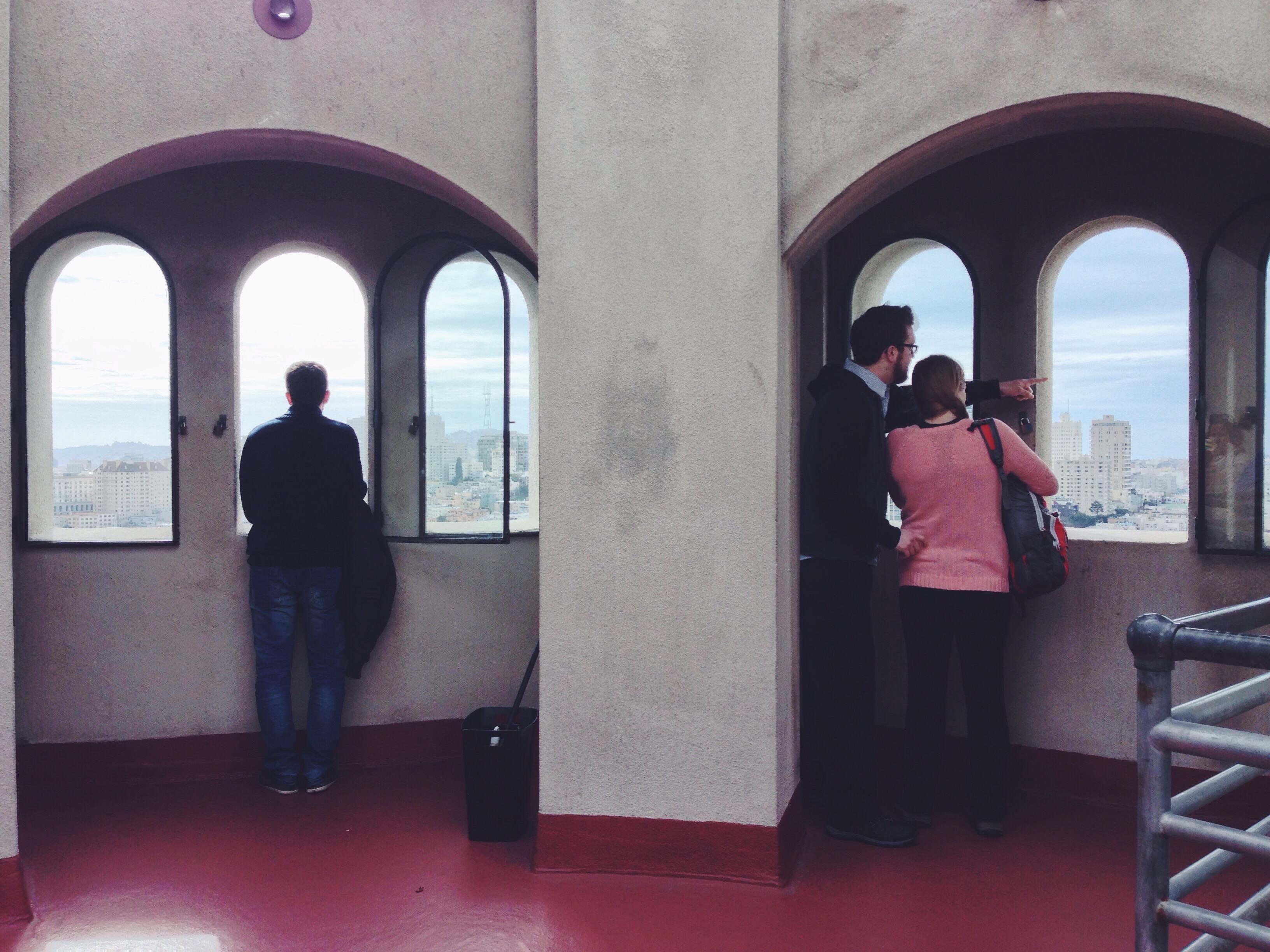 Sulla terrazza panoramica della Coit Tower