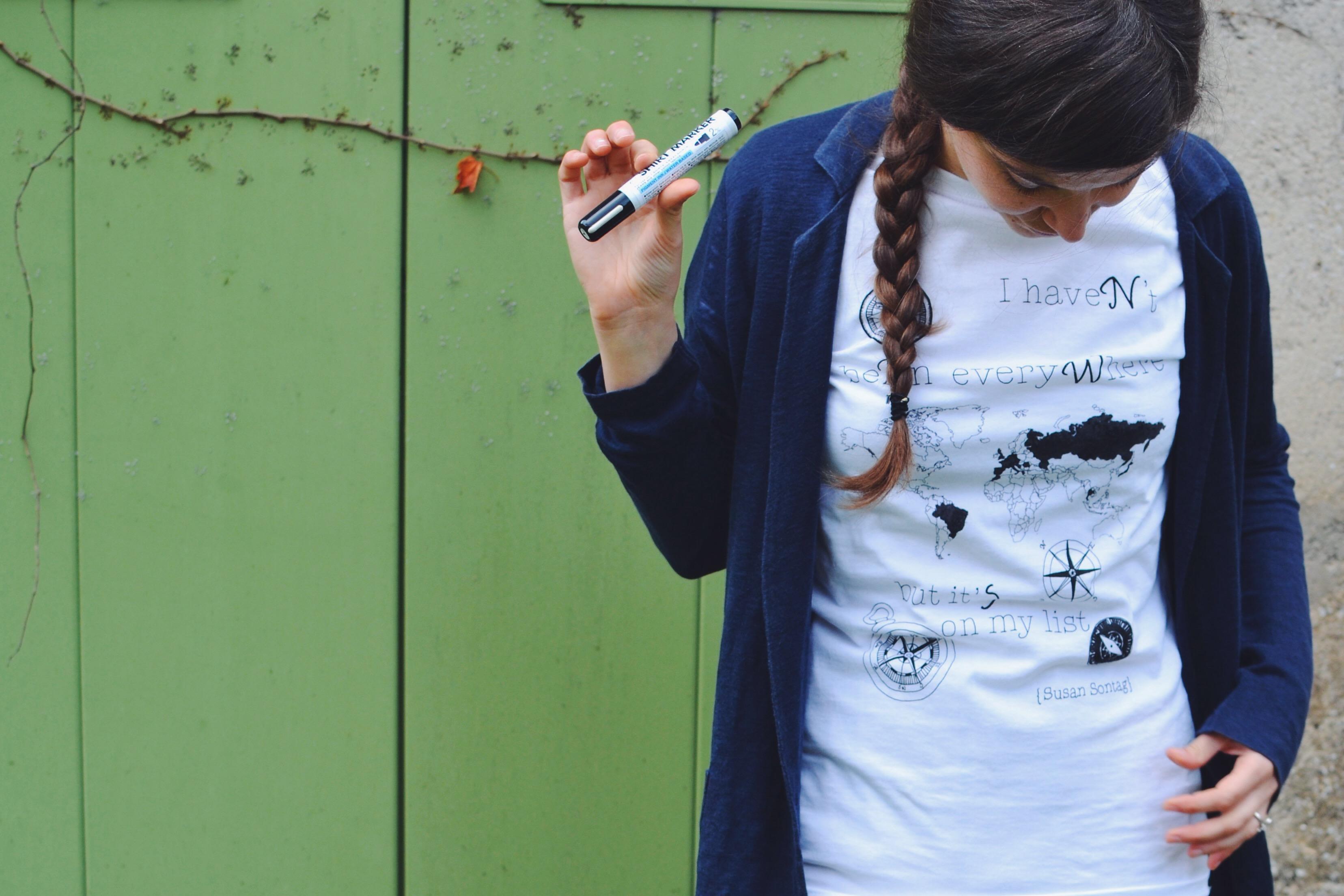 Ink Your Map - colora la mappa della tua maglietta con i tuoi viaggi