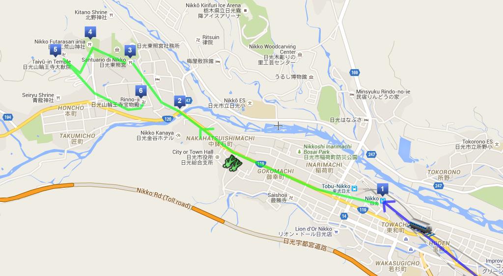 Itinerario a piedi di una giornata a Nikko