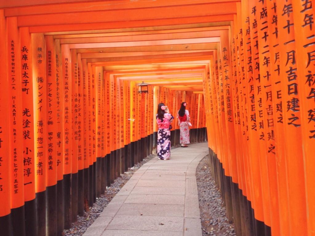 Torii rossi in giappone, Fushimi Inari
