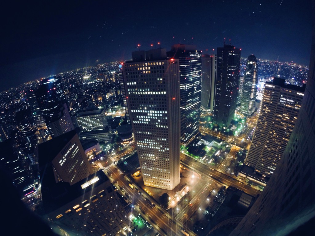 La vista di Tokyo dall'alto dal Government building
