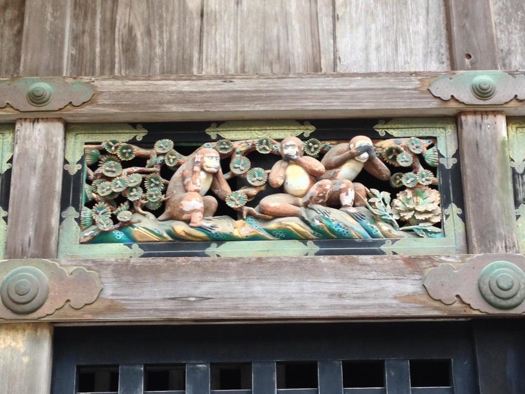 Le tre scimmiette del Santuario Santuario Tonsho-gu di Nikko