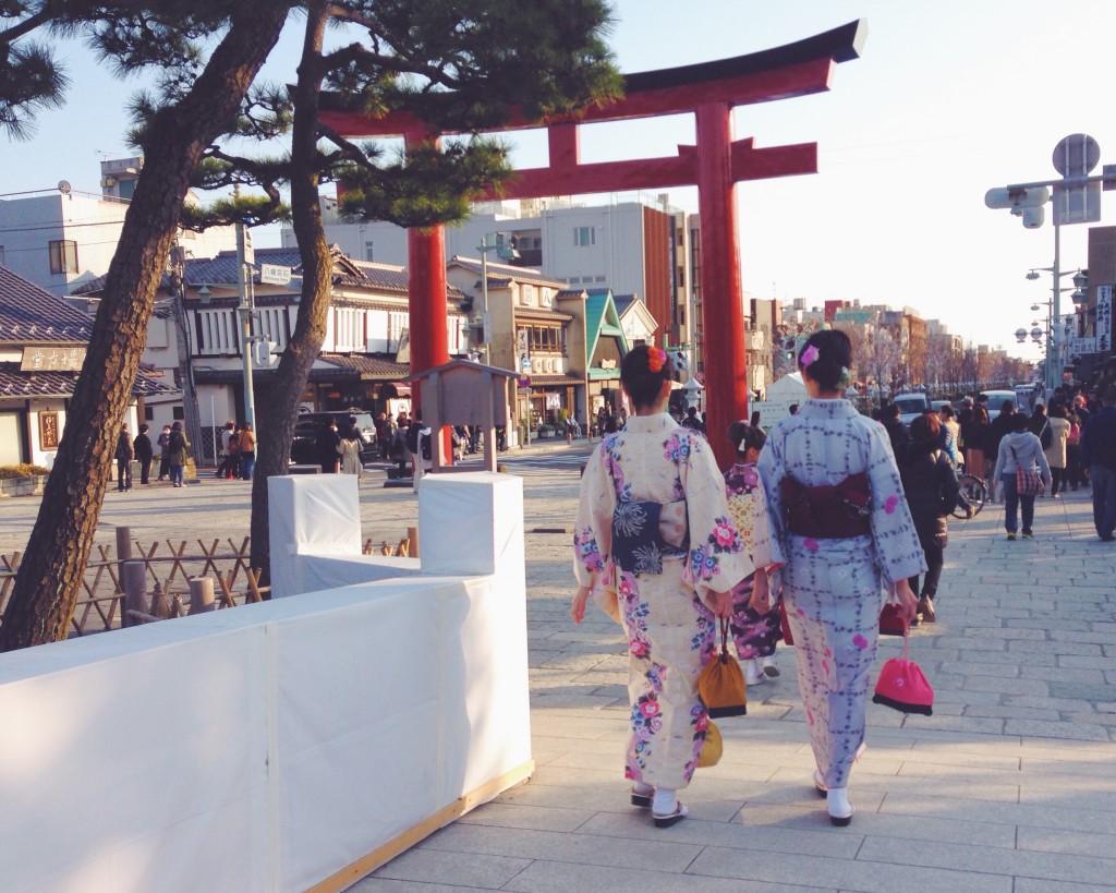 A passeggio su Wakamija-dori