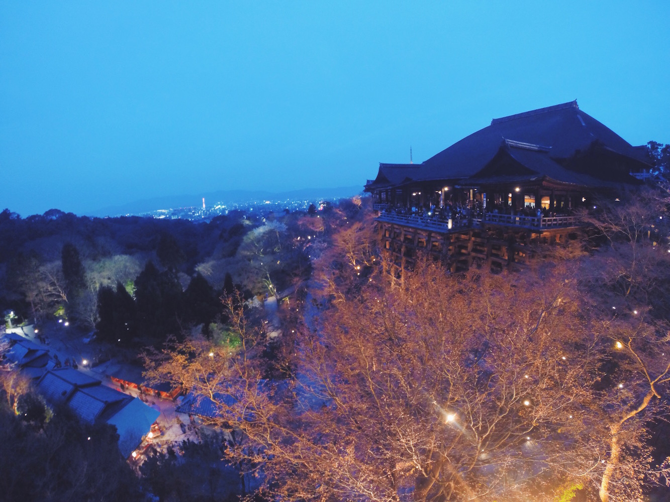 La vista di Kyoto dal Tempio Kiyomizu-dera
