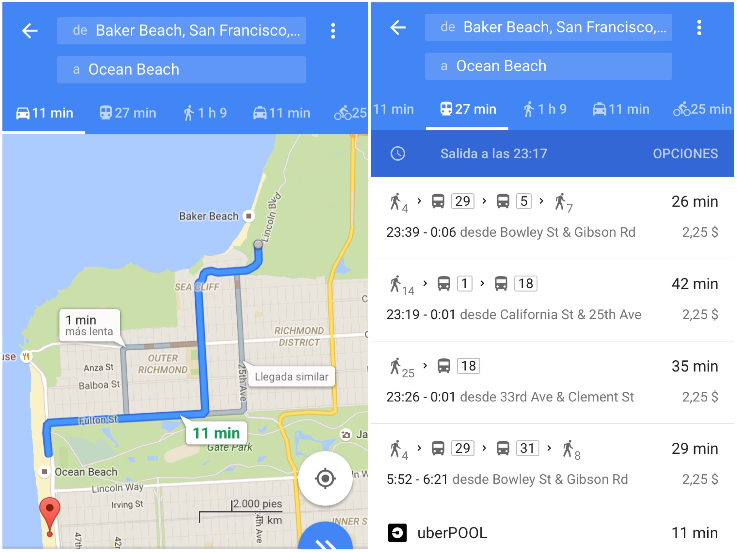 Come utilizzare google maps a San Francisco