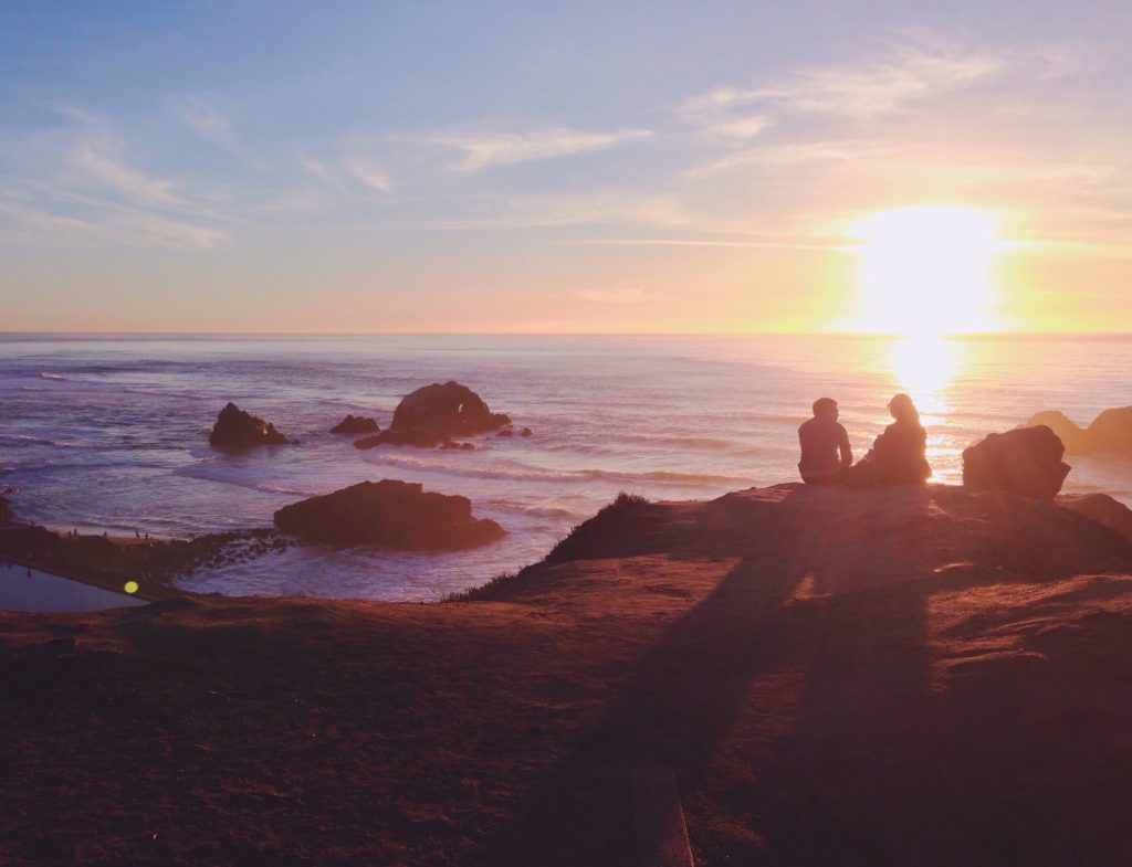 Il tramonto a Ocean Beach - San Francisco - Californi