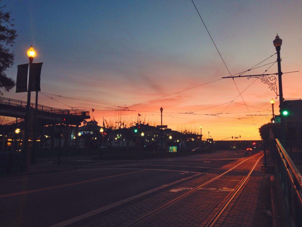San Francisco all'alba