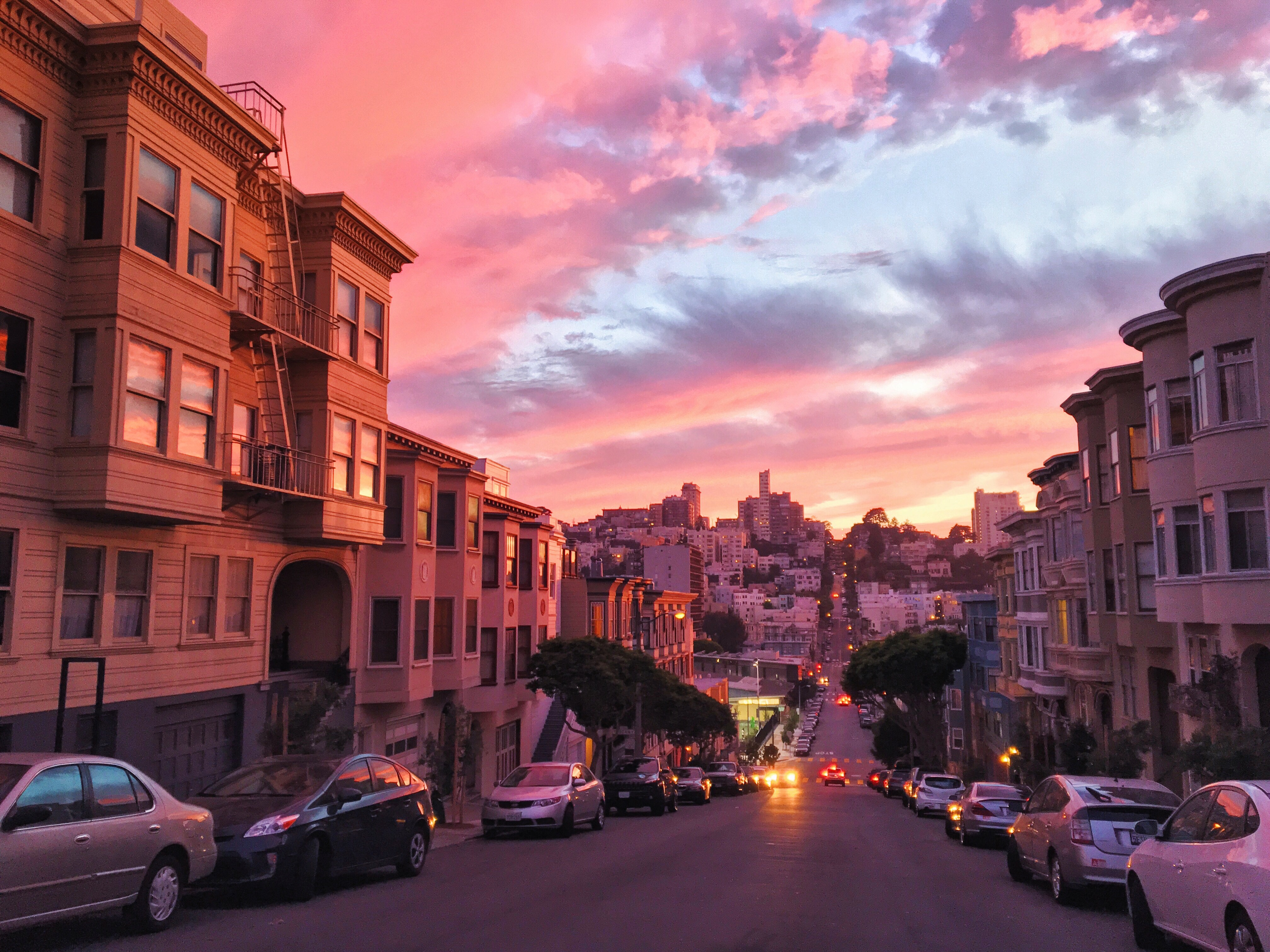 Tramonto rosso a San Francisco