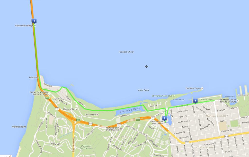 Il mio itinerario a piedi di 3 giorni a San Francisco - Giorno 2 - Marina e Golden Gate Bridge