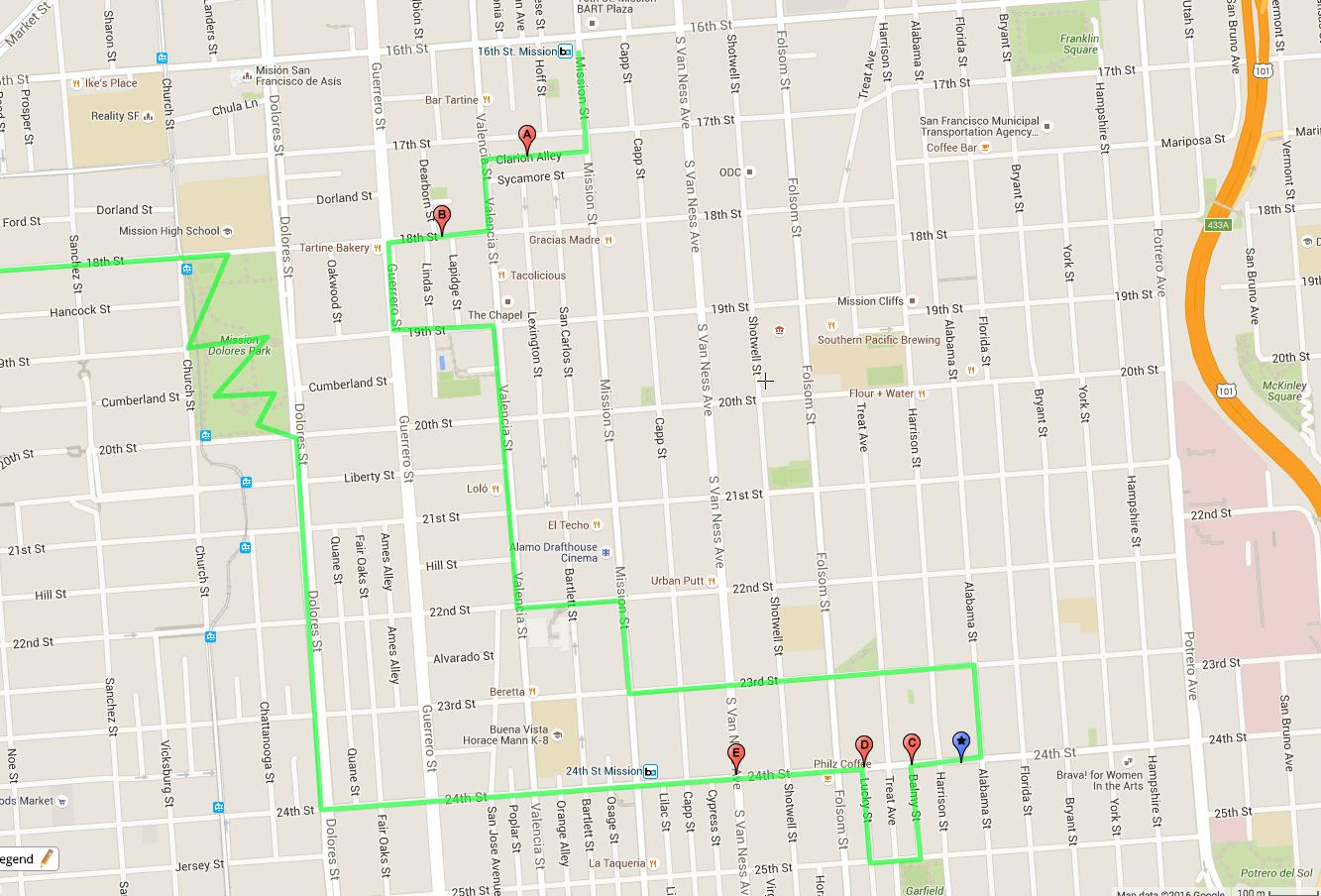 Itinerario a piedi dei murales di Mission a San Francisco