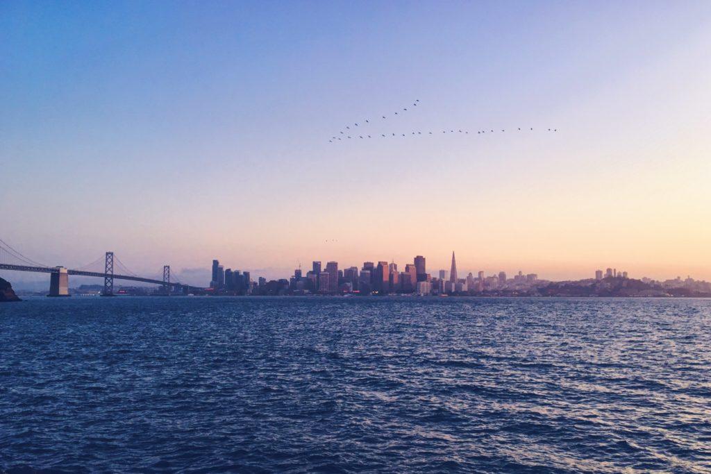 La vista di San Francisco da Treasure Island
