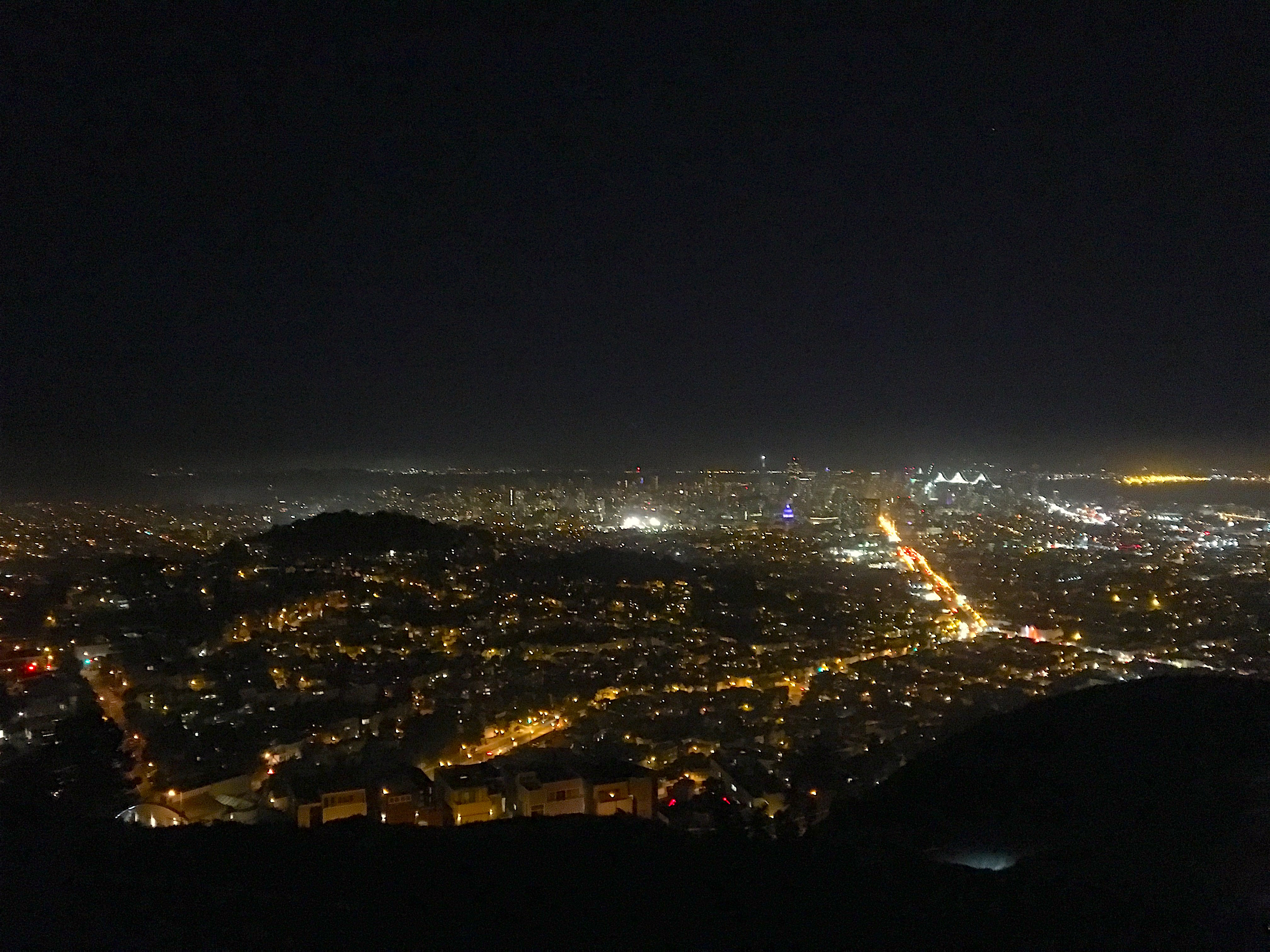 Vista di San FRancisco da Twin Peaks