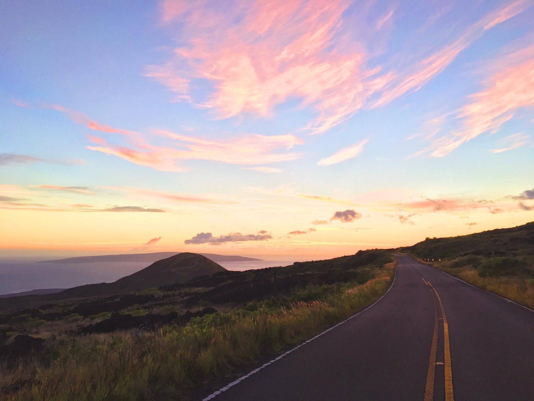 Tramonto sulla strada più bella del mondo Road to hana di Maui - Hawaii.jpg