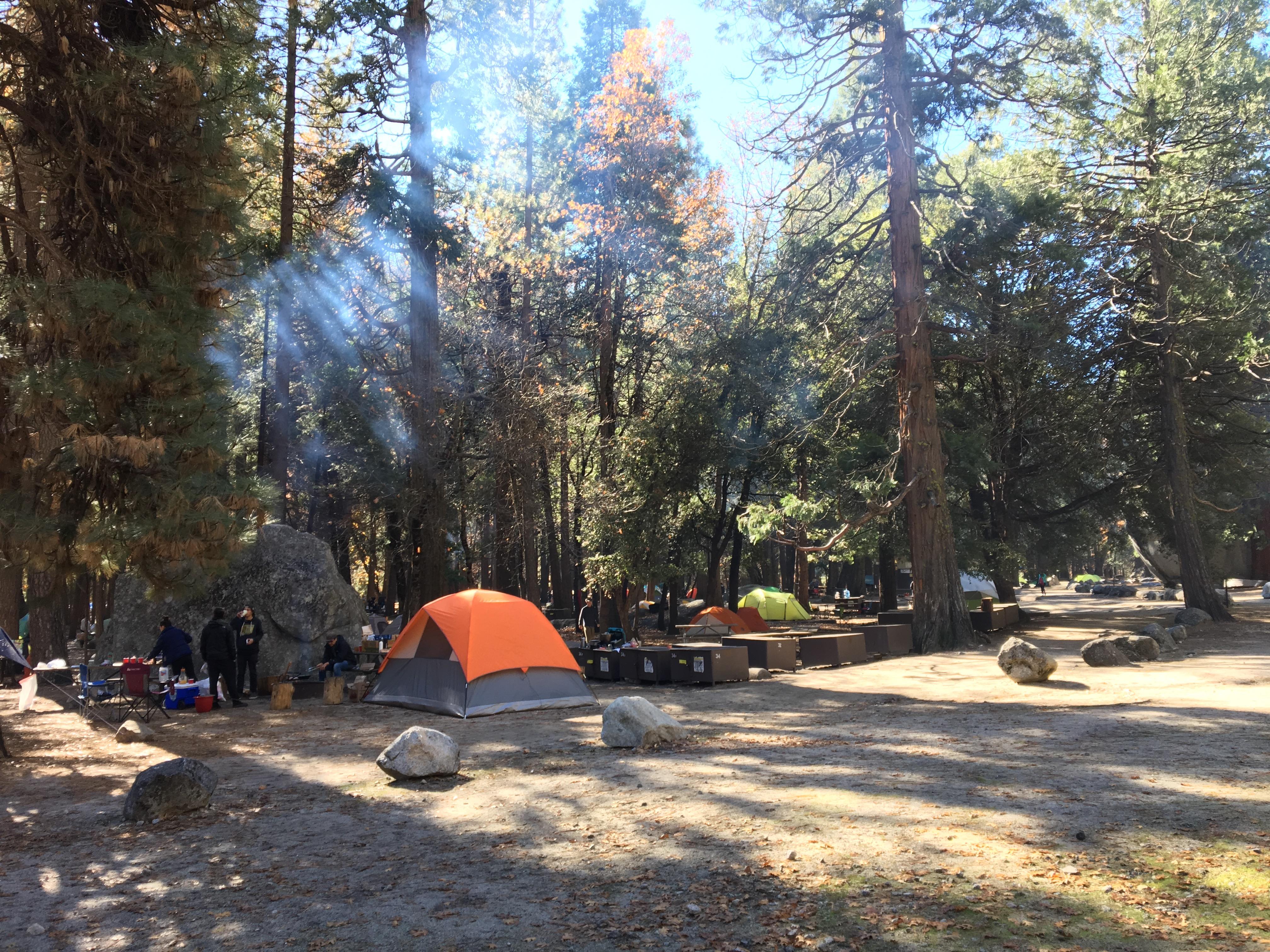 Campeggiare allo Yosemite National Park