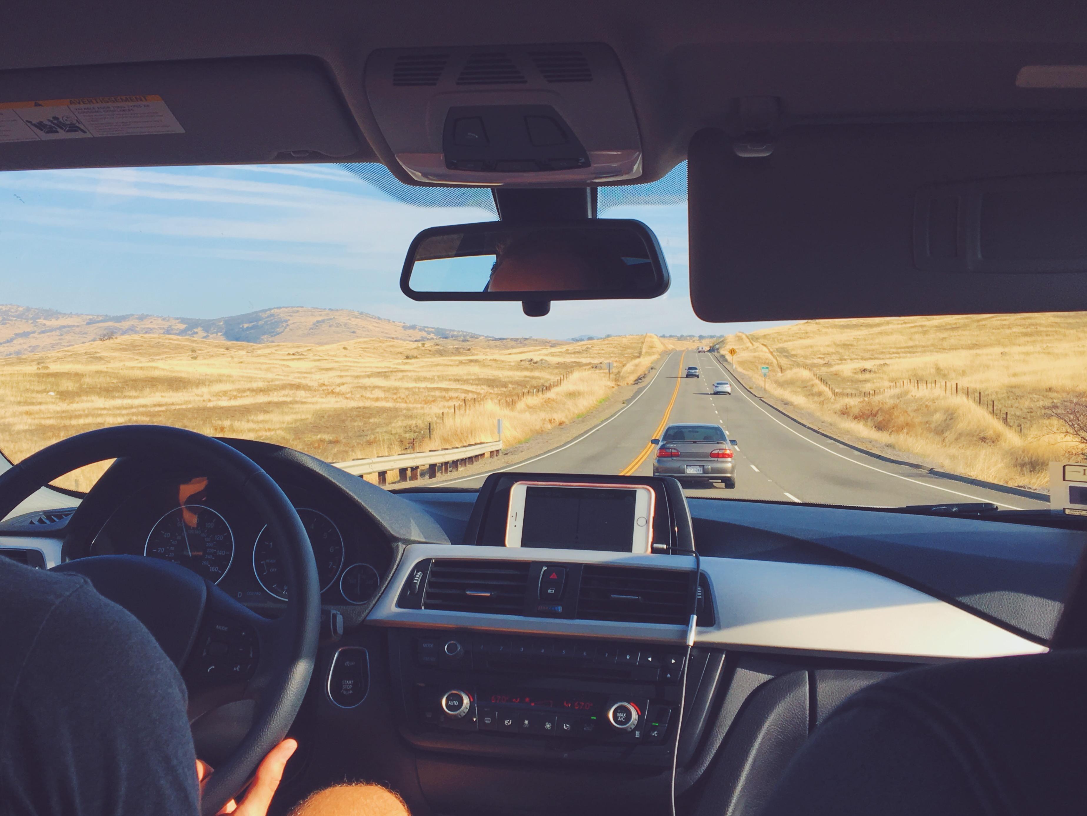 In auto da San Francisco allo Yosemite
