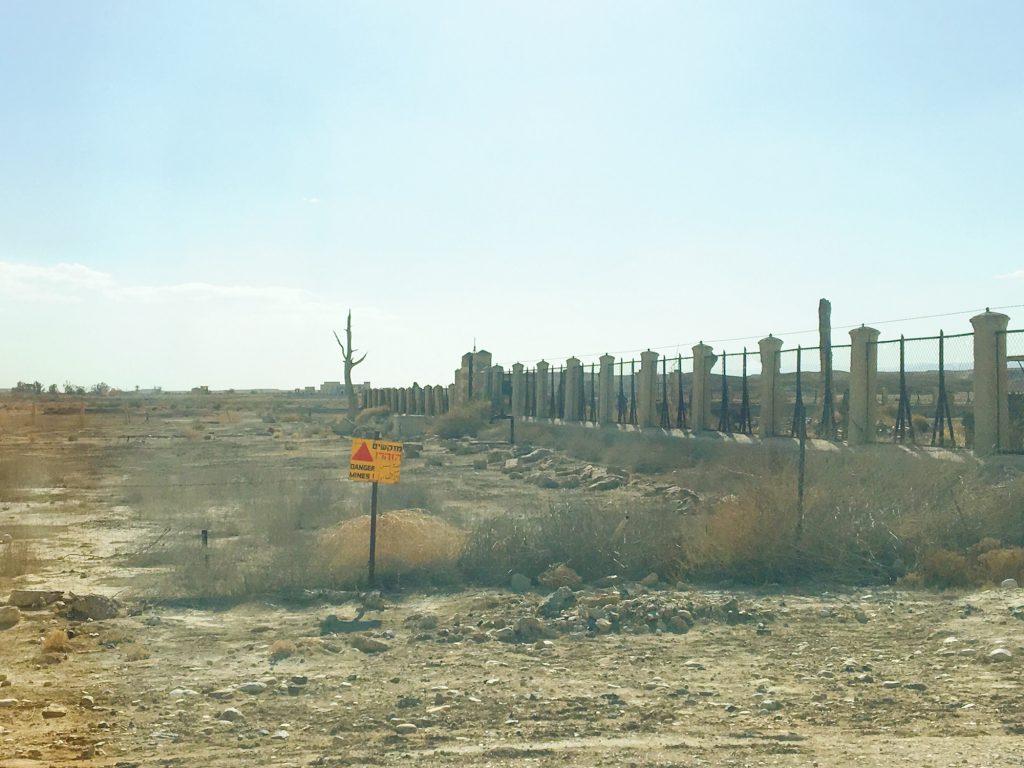 I campi minati al confine tra Israele, Palestina e Giordania